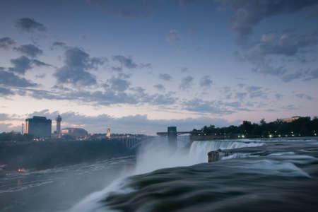 horseshoe falls: Photo of Niagara Falls from the US side. Stock Photo