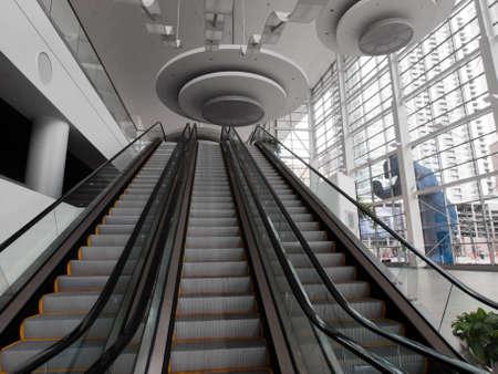 Escalator at the Colorado Convention Center in Downtown Denver.