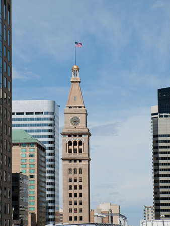 The Daniels & Fisher Tower is one of the landmarks of the Denver skyline.
