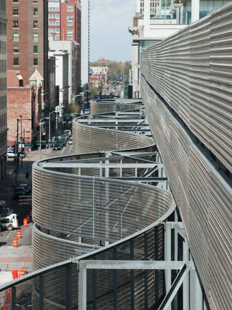 Detail of the Colorado Convention Center in Downtown Denver.
