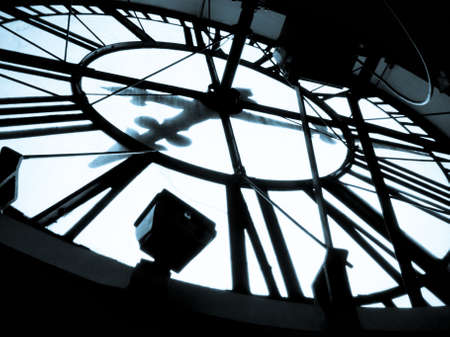 The inner workings of a large clock at Clock Tower in Denver, Colorado. Editorial