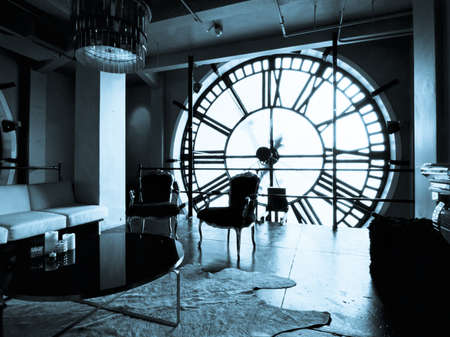 Inside of the Clock Tower on 16th Street Mall in Denver, Colorado. Editorial