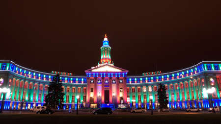 christmas in denver: Downtown Denver at Christmas. Denver Editorial