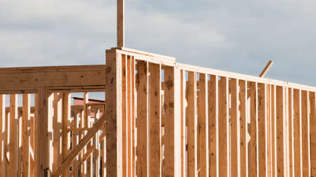 townhome: Townhome construction with wood framing.
