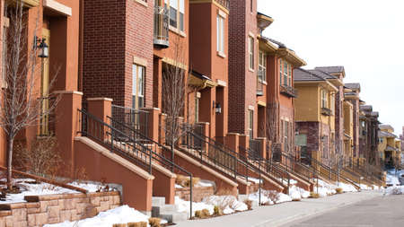 townhomes: Urban townhomes. Editorial