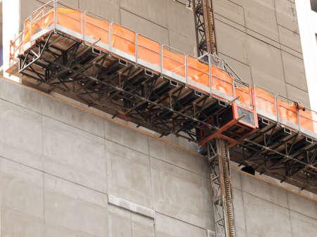 Construction scaffolding.