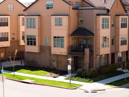 townhomes: Contemporary townhomes at Belmar, Colorado.