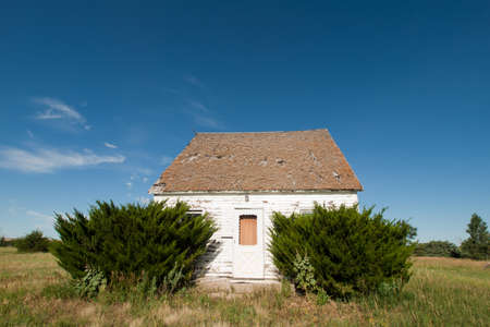 abandoned house: Abandoned farm house in Arriba, Colorado. Stock Photo