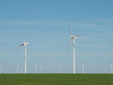 Wind turbines farm in Eastern Colorado. Stock Photo - 10191966