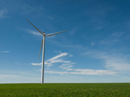 Wind turbines farm in Eastern Colorado. Stock Photo - 10192855