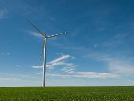 Wind turbines farm in Eastern Colorado. Stock Photo - 10192855