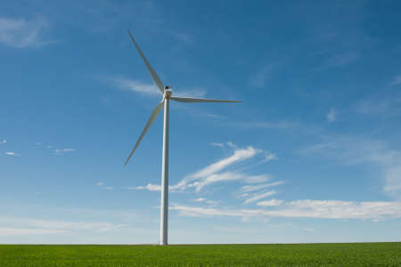 Wind turbines farm in Eastern Colorado. Stock Photo - 10192768