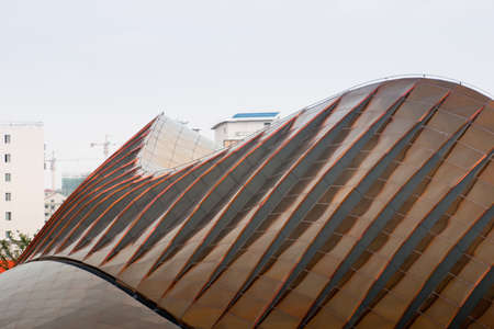Exterior of the United Arab Emirates Pavilion at the EXPO 2010 Shanghai, China.