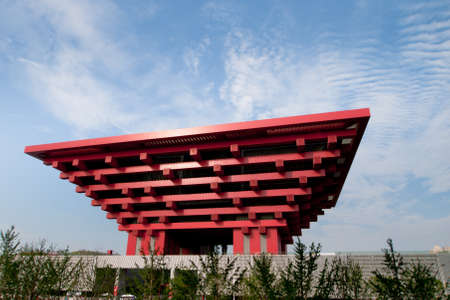 Exterior of the China Pavilion at the EXPO 2010 Shanghai, China. Stock Photo - 10165513