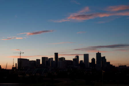 A view of Denver, Colorado downtown right before sunrise. Stock Photo - 10165558