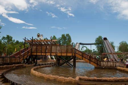 denver parks: Fun water ride at the Elitch Gardens Theme Park in Denver, Colorado.