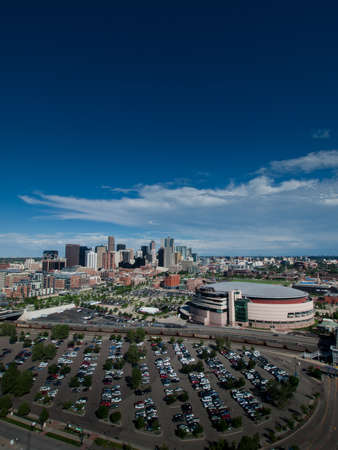 Aerial view of Denver from observation tower at the Elitch Gardens Theme Park. Stock Photo - 10165882