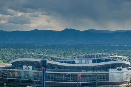 View of the Invesco Field in Denver, Colorado.