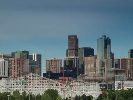 A view of Denver, Colorado downtown right before sunset Stock Photo - 10165919