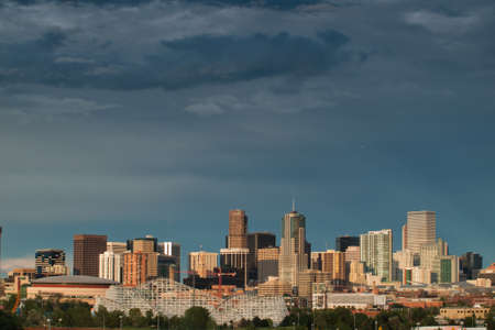 A view of Denver, Colorado downtown right before sunset Stock Photo - 10165907