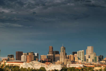 A view of Denver, Colorado downtown right before sunset Stock Photo - 10165886