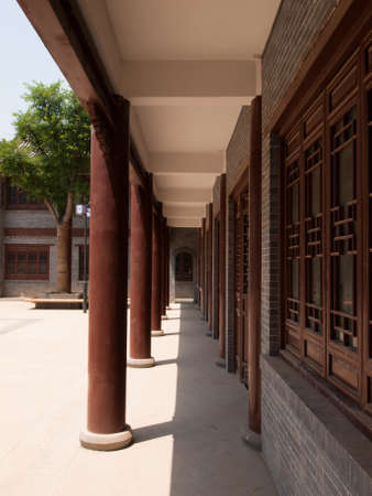 chinese courtyard: Traditional chinese courtyard residences in Xian, China.