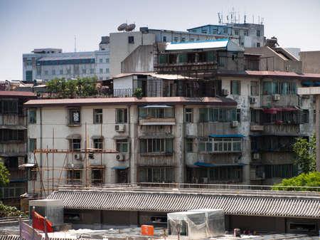 run down: Run down residential building in Xian, China. Editorial