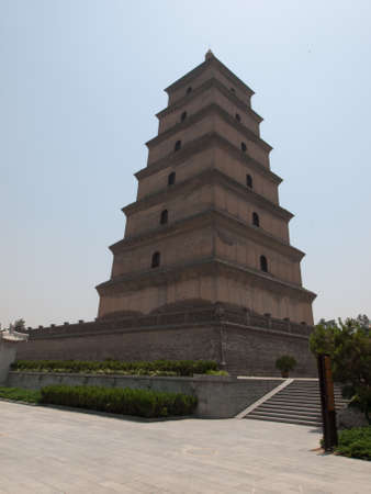 Traditional chinese pagoda in Xian, China.