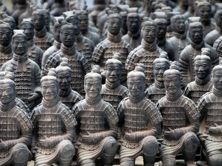 The Terracotta Army in Xian, China. Banco de Imagens - 10166079