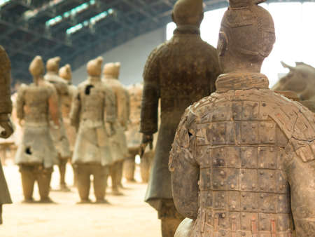 The Terracotta Army in Xian, China.