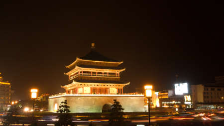 Beautiful and traditional building in the center of Xian.