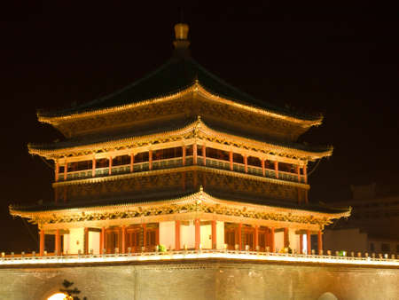 Beautiful and traditional building in the center of Xian. Stock Photo - 10166073