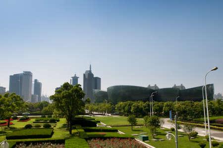 중국 상하이 도시 공원.