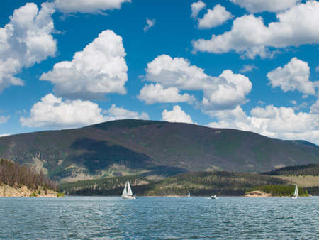 lake dillon: Sailboats on the Lake Dillon, Colorado. Editorial