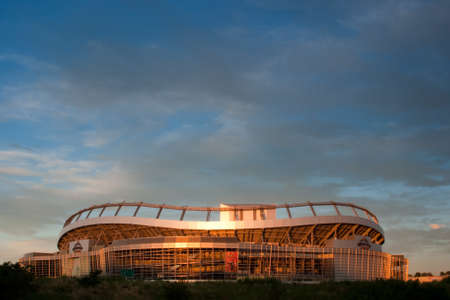 Sunrise over Invesco Field in Denver, Colorado. Stock Photo - 10186589