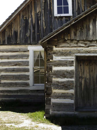 Old homestead buildings on Florissant National Monument in central Colorado. Stock Photo - 10207800