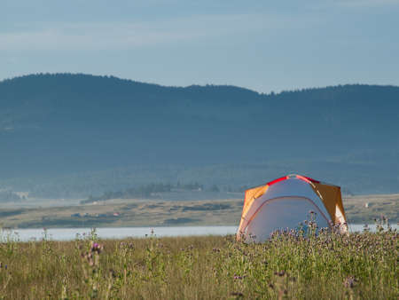 Camping at Eleven Mile Reservoir, Colorado. photo