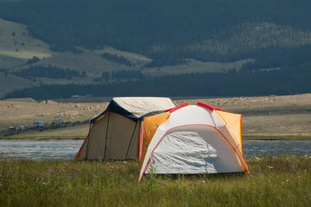 Camping at Eleven Mile Reservoir, Colorado.