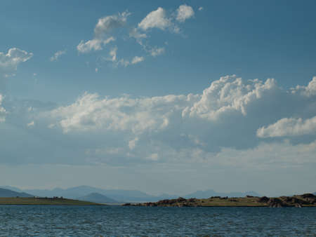 eleven mile reservoir: Landscape of the  Eleven Mile Reservoir, Colorado. Stock Photo