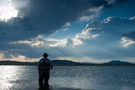 eleven mile reservoir: Fishing at Eleven Mile Reservoir, Colorado.