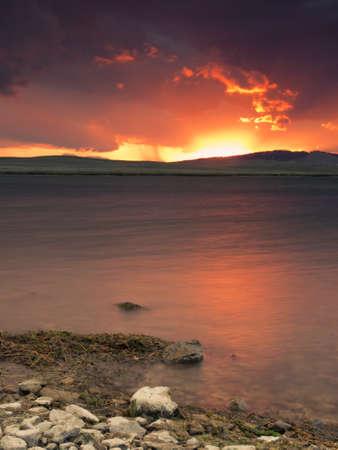 eleven mile reservoir: Sunset on the  Eleven Mile Reservoir, Colorado.