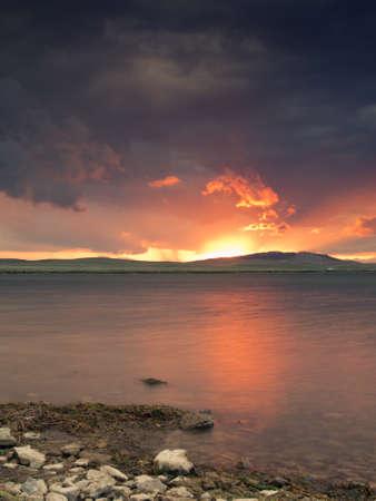 eleven: Sunset on the  Eleven Mile Reservoir, Colorado.