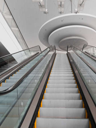 elevated walkway: Escalator at the Colorado Convention Center in Downtown Denver. Editorial