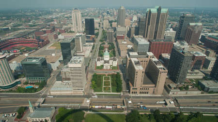 st  louis arch: Aerial View Dowmtown Saint Louis, Missouri.
