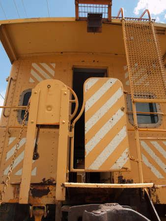 colorado railroad museum: Yellow caboose from the Rio Grande Railroad in Eagle historical museum, Colorado.
