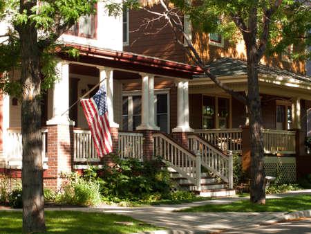 Huis in New Urbanism ontwikkeling van Prospect-project in Longmont, Colorado. Redactioneel