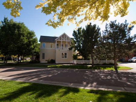 House in new urbanism development of Prospect project in Longmont, Colorado. Stock Photo - 10582001