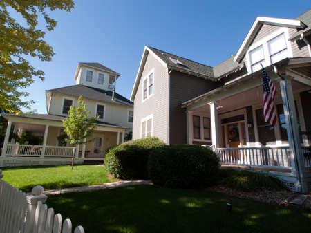 House in new urbanism development of Prospect project in Longmont, Colorado. Stock Photo - 10581921