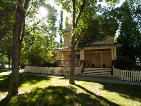 single dwellings: House in new urbanism development of Prospect project in Longmont, Colorado. Editorial