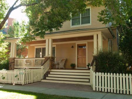 House in new urbanism development of Prospect project in Longmont, Colorado. Stock Photo - 10581979